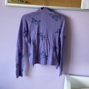 Girls purple butterfly sweatshirt